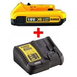 DEWALT BATTCAR - SET BATTERY XR 18V ​​2AH AND UNIVERSAL CHARGER 18V