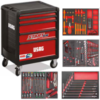 Start trolley with set for maintenance of hybrid and electric cars (133 pcs.)