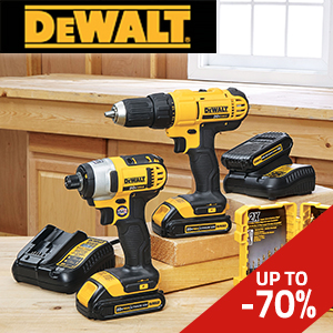 DeWalt: discounts up to 70%