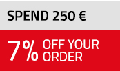 7% off if you spend 250 €