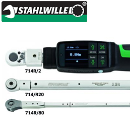 STAHLWILLE 96501001 - 714R - MANOSKOP 714 R TIGHTENING ANGLE TORQUE WRENCHES WITH REVERSIBLE RATCHET INSERT TOOL
